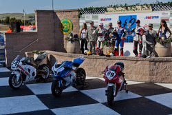 SuperBike Race #2 Podium: 1st place Blake Young, 2nd place Roger Hayden, 3rd place Geoff May