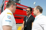 Otmar Szafnauer, Sahara Force India F1 Chief Operating Officer with Adrian Sutil, and Manfred Zimmerman, CMG, manager of Sutil