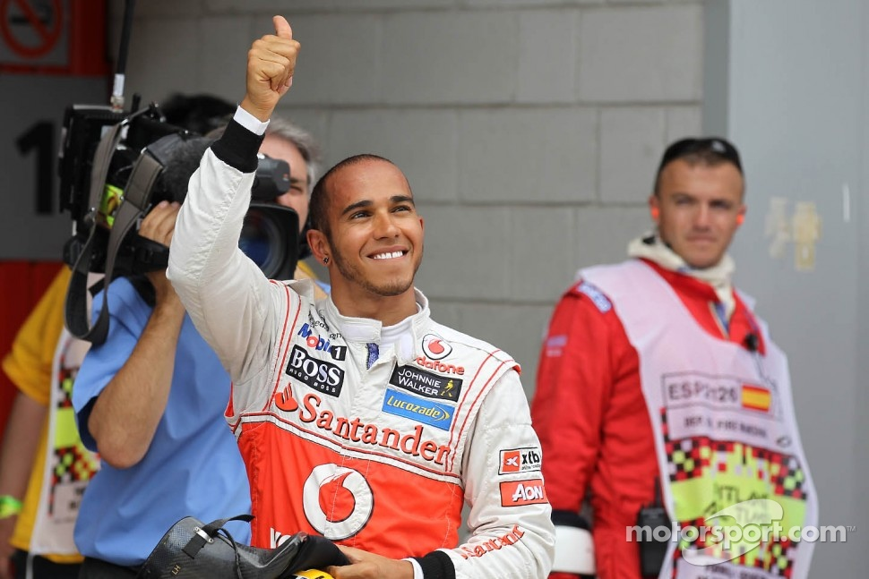 Lewis Hamilton, McLaren Mercedes gets pole position