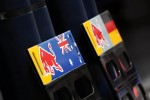Pit boards for Mark Webber, Red Bull Racing and Sebastian Vettel, Red Bull Racing