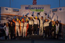 P2 Podium: First place Scott Tucker, Luis Diaz, Franck Montagny; Second place Martin Plowman, David Heinemeier Hansson, Antonio Pizzonia; Third place Scott Tucker, Christophe Bouchut, Franck Montagny