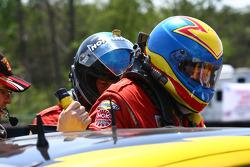 Driver change #43 Team Sahlen TheRaceSite.Com Mazda Rx-8: Joe Nonnamaker, Will Nonnamaker