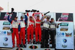 GT Podium - #69 Aim Autosport Team Fxdd Racing With Ferrari 458: Emil Assentato, Jeff Segal - 2nd #57 Stevenson Motorsports Camaro GT.R: John Edwards, Robin Liddell  - 3rd #44 Magnus Racing Porsche GT3: Andy Lally, John Potter
