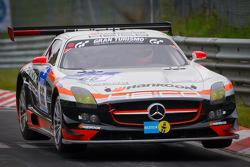 #66 Hankook-Team Heico Mercedes-Benz SLS AMG GT3: Pierre Kaffer, Christiaan Frankenhout, Andreas Simonsen