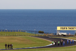 Teams walk the track