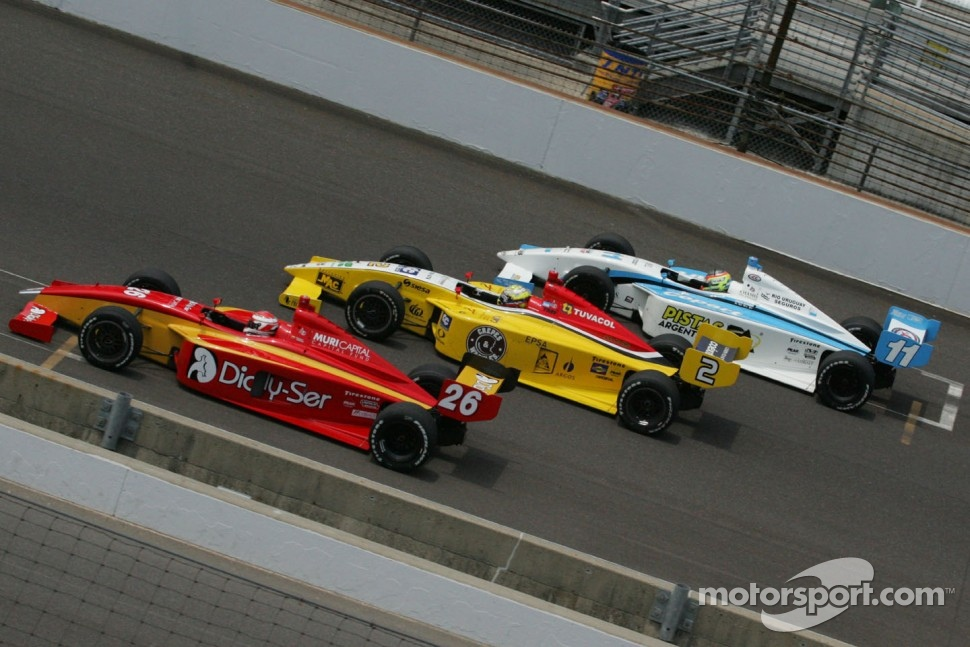 Carlos Munoz, Andretti Autosport, Gustavo Yacaman, Team Moore Racing and Esteban Guerrieri, Sam Schmidt Motorsports