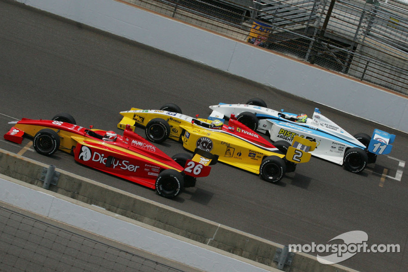 Carlos Munoz, Andretti Autosport, Gustavo Yacaman, Team Moore Racing and Esteban Guerrieri, Sam Schmidt Motorsports