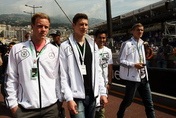 The German National Football Team in the F1 pits
