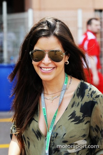 Gabriella Tarkany, girlfriend of Pastor Maldonado, Williams