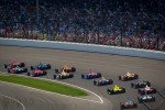 Scott Dixon, Target Chip Ganassi Racing Honda leads the field