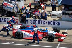 Pit stop for James Jakes, Dale Coyne Racing Honda