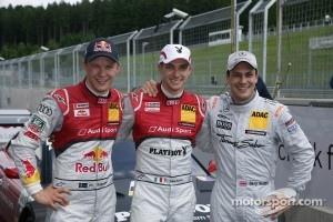 Qualifying, 3rd Mattias Ekström, Audi Sport Team Rosberg Audi A5 DTM, 2nd Gary Paffett, Team HWA AMG Mercedes, AMG Mercedes C-Coupe