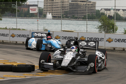 Dario Franchitti, Target Chip Ganassi Honda and Simon Pagenaud, Schmidt-Hamilton Motorsports
