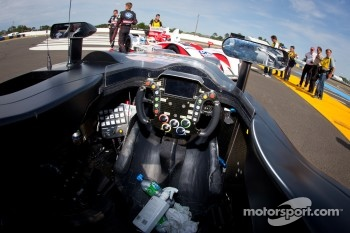 #0 Highcroft Racing Delta Wing Nissan cockpit