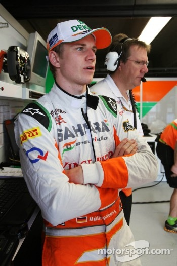 Nico Hulkenberg, Sahara Force India F1 in the pits