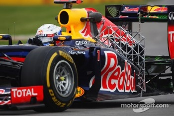 Sebastian Vettel, Red Bull Racing running sensor equipment
