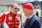 Stefano Domenicali, Scuderia Ferrari General Director with Niki Lauda (AUT)