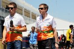Paul di Resta, Sahara Force India F1 with Will Hings, Sahara Force India F1 Press Officer