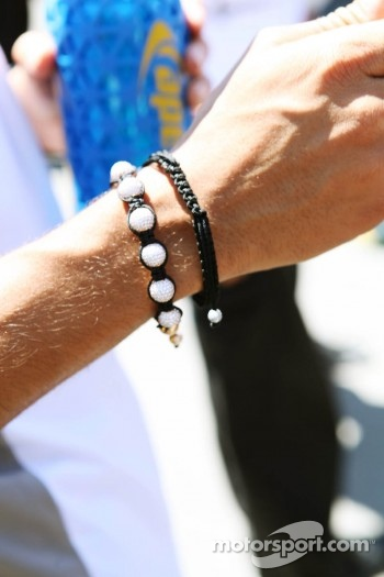 Bracelet worn by Jenson Button, McLaren Mercedes