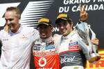 The podium, McLaren Mercedes Chief Executive Officer; Lewis Hamilton, McLaren Mercedes, race winner; Sergio Perez, Sauber, third