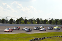 Joey Logano, Joe Gibbs Racing Toyota leads the start