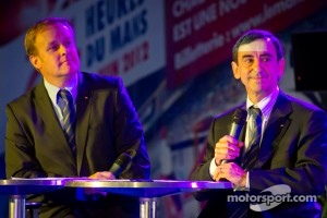 ACO press conference: ACO marketing director Fabrice Bourrigaud and ACO President Pierre Fillon