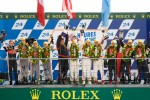 LMP2 podium: class winners Enzo Potolicchio, Ryan Dalziel, Tom Kimber-Smith, second place Pierre Thiriet, Mathias Beche, Christophe Tinseau, third place Luis Perez Companc, Pierre Kaffer, Soheil Ayari