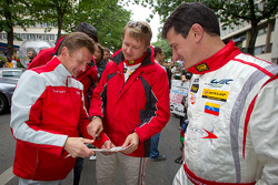 Allan McNish, Ryan Dalziel and Enzo Potolicchio