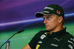 Heikki Kovalainen, Caterham in the FIA Press Conference
