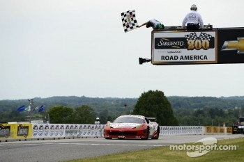 #69 AIM Autosport Team FXDD with Ferrari Ferrari 458: Emil Assentato, Jeff Segal takes the GT win