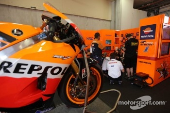 Repsol Honda Team area
