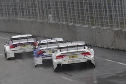 Andy Priaulx, BMW Team RBM BMW M3 DTM, Joey Hand, BMW Team RMG BMW M3 DTM, Adrien Tambay, Audi Sport Team Abt Audi A5 DTM