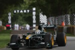 Giedo van der Garde drives a Lotus F1