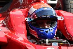 Marc Gene drives a Ferrari F1