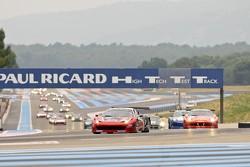 Race Start: #64 Black Bull Swiss Racing Ferrari 458 Italia:Tommaso Maino, Andrea Invernizzi, Mirko Venturi