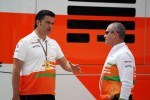 Andy Stevenson, Sahara Force India F1 Team Manager with Gerry Convy, Personal Trainer of Paul di Resta, Sahara Force India F1