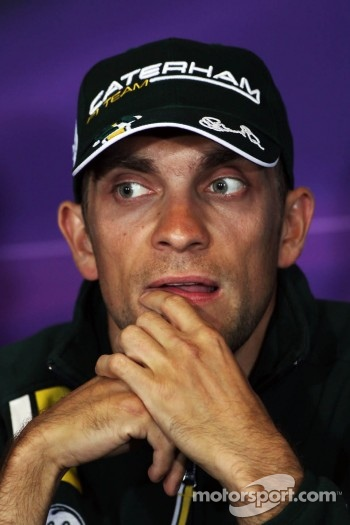 Vitaly Petrov, Caterham in the FIA Press Conference