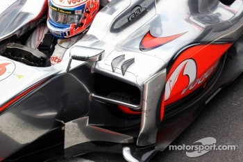 Jenson Button, McLaren sidepod detail