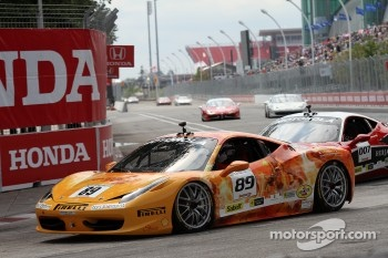 #89 Ferrari of Ontario 458CS: Ryan Ockey and #007 Ferrari of Ontario 458CS: Robert Herjavec