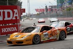 #89 Ferrari of Ontario 458CS: Ryan Ockey and #007 Ferrari of Ontario 458CS: Robert Herjavec