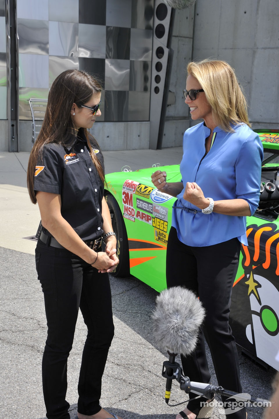 Danica Patrick and Katie Couric