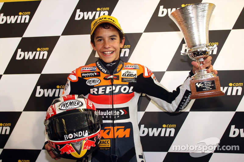 2008: Celebrating his first GP podium
