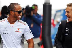 Lewis Hamilton, McLaren with Antti Vierula, Personal Trainer