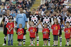 Michael Schumacher, Vitaly Petrov, Sebastian Vettel, Maro Engel