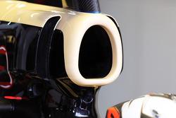 New aero detail on the engine cover of Kimi Raikkonen, Lotus F1