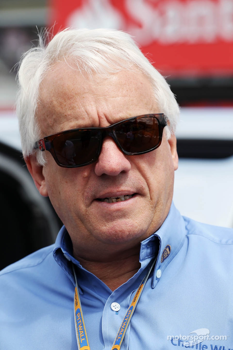 Charlie Whiting, FIA Delegate on the grid