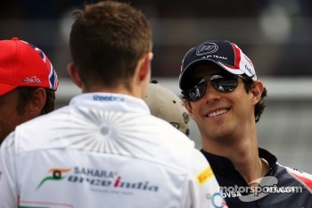 Bruno Senna, Williams and Paul di Resta, Sahara Force India F1 on the drivers parade