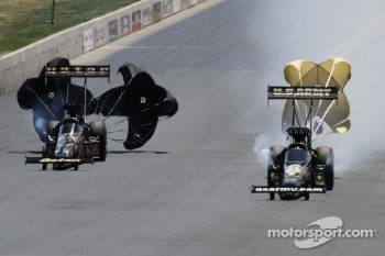 Khalid alBalooshi and Tony Schumacher