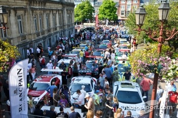 Some of the cars assembled in Casino Square