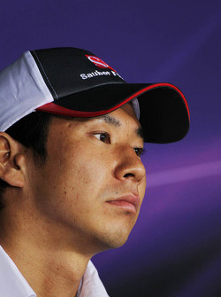 Kamui Kobayashi, Sauber in the FIA Press Conference